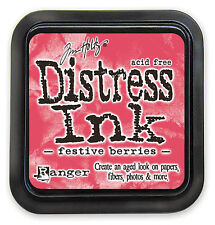 Tim Holtz - Distress Ink Pad - Full Size - Festive Berries - Red