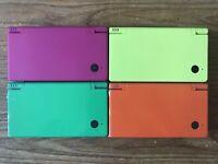Nintendo DSi Pink Green Yellow Orange REFURBISHED Grade A Boxed