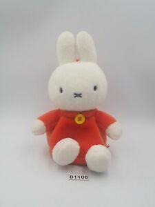 "Miffy Rabbit Bunny B1108 Sekiguchi Zipper Bag Pouch 1999 Plush 6"" Toy Doll Japan"