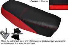 BLACK & RED CUSTOM FITS YAMAHA DT 50 MX DUAL LEATHER SEAT COVER ONLY