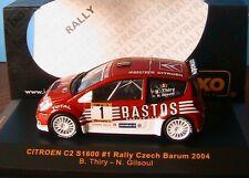 CITROEN C2 S1600 #1 RALLY CZECH BARUM 2004 THIRY GILSOUL IXO RAM153 1/43 tcheque