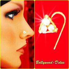 Bollywood Strass Nasenstecker Nasen Piercing Nose Pin Blume Nath Model N-29