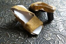 HARD TO FIND! VINTAGE glittered GOLD HIGH HEELED Sandals for your  DOLL TLC