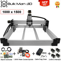 1x1.5m 4 Axis WorkBee CNC Router Machine Full Kit Mach3 1.5KW Water Engraver