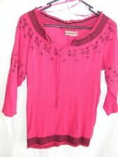 3/4 Sleeve Embroidered 100% Cotton Tops & Blouses for Women