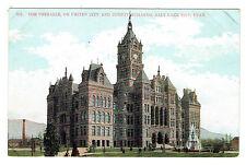 Salt Lake City Utah Unihalle or United City & County Building undivided back