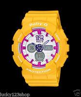 BA-120-9B Yellow Leopard Casio Baby-G Analog-Digital Display Watches Women's New