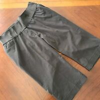 Liz Lange Maternity Shorts size 8 Brown Waist Elastic Panel Casual
