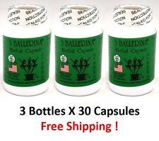3 Ballerina Herbal Capsule (30 capsules) - 3 Bottles