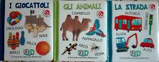 3 Volumi Il mio primo piccolo dizionario Giocattoli Animali Strada Libro Nuovi