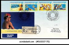 AUSTRALIA - 1994 LIFE SAVING SOCIETY - 4V - FDC REGISTERED