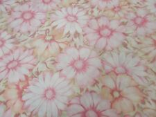 Vintage Cannon Monticello Twin Flat Sheet Pink Flowers Aloha