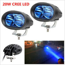 2x 20W Cree LED Auto Car Offroad Truck DRL Driving Fog Lamp Blue Spot Work Light