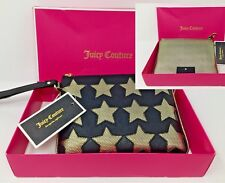Juicy Couture Star Tech Wristlet Small Handbag in Black & Gold NEW $68