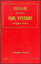 Lincoln Mercury Carburetor Repair Shop Manual 1938 1939 1940 1941 1942 1946 1947