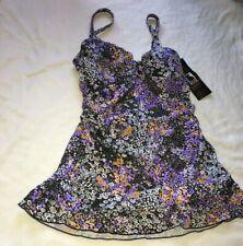 Shore Shapes Swimwear Women Floral One Piece Swim Dress Swimsuit US 10 NEW