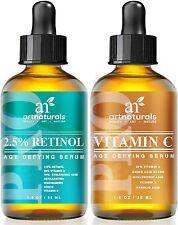 Art Naturals Organic 20% Vitamin C Serum 30ml & 2.5% Vitamin A (Retinol) Seru...