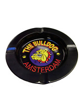The Bulldog Coffee Shop Amsterdam -  Metal Ashtray in black - Free uk p&p