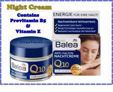 Balea Anti-wrinkle Night Face Cream With Q10 Omega Complex Fine Lines 50ml VIT E