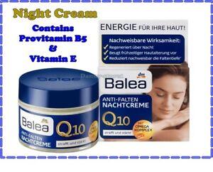 Balea Q 10 Anti-Wrinkle Night Cream  with Omega Complex 50 ml