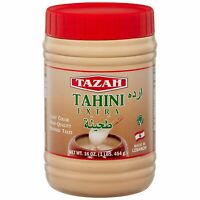 Tazah Premium Lebanese Tahini Extra 1 Pound 16 Ounce Jar