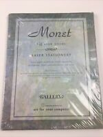 Monet Water Lilies Laser Stationery Set 40 Sheets 20 Envelopes Manticore NEW
