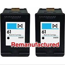 2x REM HP61 Black Ink Cartridges For HP Deskjet 1050,2540,Envy 4504,5530