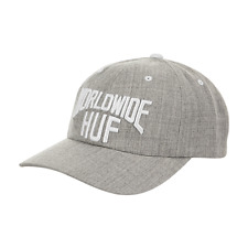 Huf worldwide Skate shoes cap Dad hat Manhattan Cv Curved Visor Heather grey