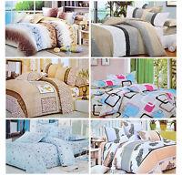Flower Design Bedding Single Double Reversible Bed Duvet Quilt Cover Set New