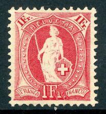 Switzerland 1903 Standing Helvetia 1 Fr Carmine Perf 11½ x 12 Scott 97a MNH K215