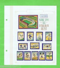 #T6. 1956  MELBOURNE OLYMPIC GAMES  SERIES MATCHBOX LABEL SET