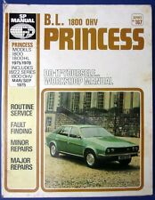 SP Workshop Manual BL Princess 1800 - 1800HL (18/22 OHV) 1975-78 #167 (1712)