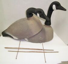Lot Of 2 Atco Paper Mache D-5 STD Goose Decoy Shell Complete w/ Stand NO RESERVE
