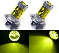 LED 50W H7 Yellow 3000K Two Bulbs Head Light Low Beam Replacement Show Use Lamp
