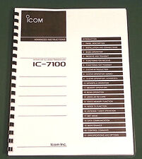 Icom IC-7100 Advanced Instruction Manual: Premium Card Stock Covers - 379 pages!