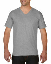 Cotton V Neck Long Sleeve Loose Fit T-Shirts for Men
