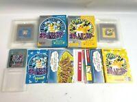 NINTENDO POKEMON CRYSTAL Pikachu blue with box  set Game Boy Japan rare