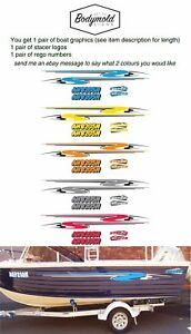 Stacer Decal Kit 2100mm long with rego numbers