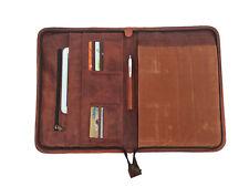 Leather Portfolio Padfolio Business Executive Organizer A4 Document Folder File