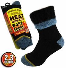 Men's Extra Warm DOUBLE HEAT 2.3 Tog Thermal Insulated Work Boot Socks.Thick
