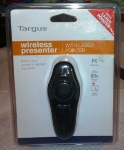 New Targus wireless presenter with laser pointer PC Compatible