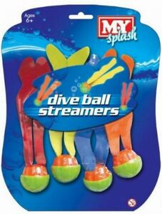 Pool Diving Balls Colour Swim Swimming Underwater Dive Toys Game Pack 4