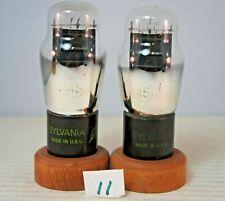 Pair Sylvania #45 Audio Amplifier Tubes Test Strong # 11 Guaranteed