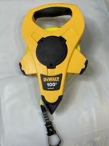 DeWalt 100'   Fiberglass Open Reel Crank Tape Measure DWHT34027