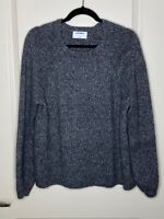 Old Navy Large Gray Long Balloon Sleeve Knit Women's Sweater