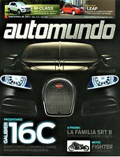 MUNDO MAGAZINE, Septembere De 2011; Bugati, Audi S6, Hemi 392, P120 Motorcycle
