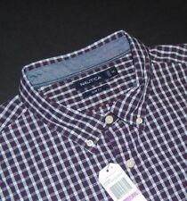 NWT, NAUTICA Button Front Shirt ~ 2XL ~ XXL ~ SLIM FIT ~ Long Sleeves