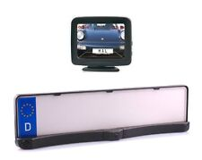 """Farb Rückfahrkamera Kennzeichenhalter Auto & LKW mit Parksensoren 3.5"""" Monitor"""
