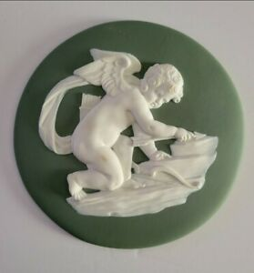 "Large Wedgwood jasperware cupid 6"" plaque"