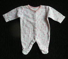 Baby clothes GIRL premature/tiny<6lbs/2.7kg pink floral George babygrow SEE SHOP